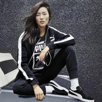 """ PUMA "" Black Jacket Leisure Sports Pants Sweatpants Two-Piece"