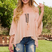 The Festival Top - Peach