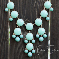 J Crew Bubble Necklace Inspired  Mint Bubble by PureStunning