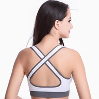 Women Yoga Shirts Sexy Sports Top Style Fitness Crop Top Solid Running Shirt Sport Gym Clothes Tank Tops Sportswear