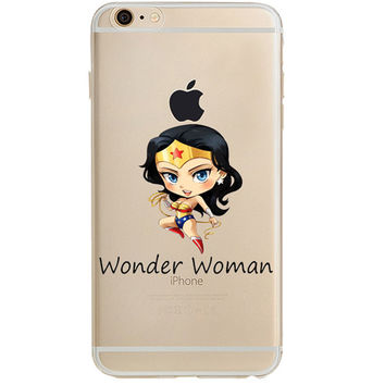 Wonder Woman Jelly Clear Case for Apple iPhone 7
