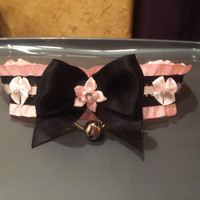 Black and Pink D-ring Collar