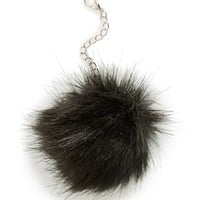 Junior Women's Lulu Faux Fur Pom Keychain