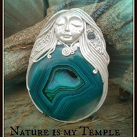Nature is my Temple Nymph-ish Agate Mystic topaz one of a kind Creation by AingealNymph