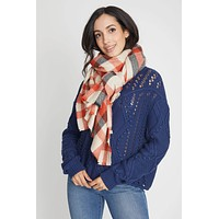 Look By M Chunky Plaid Scarf