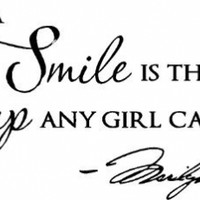 """Epic Designs, """" A smile is the best makeup any girl can wear """" MARILYN MONROE wall art wall saying quote:Amazon:Everything Else"""