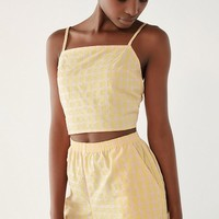 Urban Renewal Remnants Checkered Pull-On Short | Urban Outfitters
