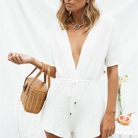 Ellison Ribbed Playsuit - Playsuits by Sabo Skirt