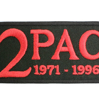 """TUPAC 2PAC RIP Iron On Sew On Embroidered Patch 3.1""""/8cm"""