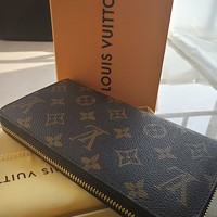 One-nice™ Authentic Original Louis Vuitton Monogram Canvas Zippy Long Organizer Wallet