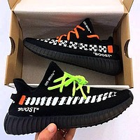 Adidas x Off-White Yeezy Boost 350 V2 men and women all-match sports running shoes