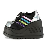 Stomp 08 Platform Sneaker Oxford Wedge Shoes 6-11 Black Multi