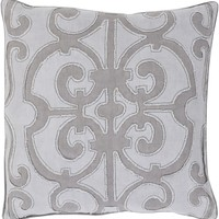 Amelia Throw Pillow Gray, Purple