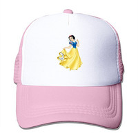 Printed Adult Unisex Princess Snow White 100% Nylon Mesh Caps One Size Fits Most Adjustable Mesh Hats