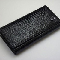 Patent Leather Wallet with Clutch Compartment