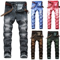 2020 New Fashion Men's Casual Jeans Pants Slim Skinny Stretch Retro Denim Trousers Washed Jean Joggers Plus Size 29 42