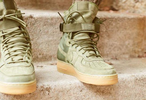 Image of Nike Special Forces Air Force 1 High 859202-339 Boots Green I