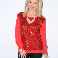 Haul Out the Holly Red Sequin Sweater