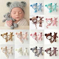 Baby Knit Bear and Hat (Multiple Colors Available!)