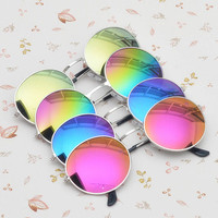 High Quality Vintage Steampunk Round Sunglasses