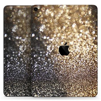 "Gold and Black Unfocused Glimmering RainFall - Full Body Skin Decal for the Apple iPad Pro 12.9"", 11"", 10.5"", 9.7"", Air or Mini (All Models Available)"