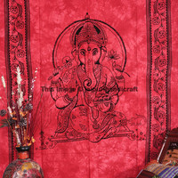 Ganesh Tapestry, Cotton Ganesha Bed Cover, Hippie Indian Tapestry, Bohemian Wall Hanging, Indian Wall Hanging, Indian Tapestry, Decor Art
