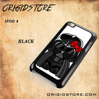 Anakin Skywalker Darth Vader Hello Kitty Star Wars Black White Snap On 3D For Ipod Touch 4 Case