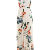 Floral Ruched Strap Maxi - Occasionwear  - Clothing  - Miss Selfridge