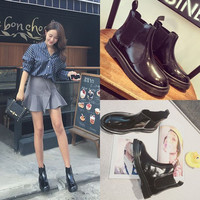 Hot Deal On Sale Flat Dr. Martens Korean England Style Boots [9036710916]
