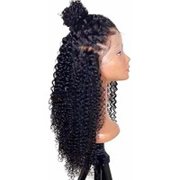 Malaysian Curly Deep Parting 13x6 Lace Front Human Hair Wigs With Baby Hair