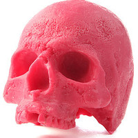 Insight Candle Liujiang Skull in Candy Crane Pink