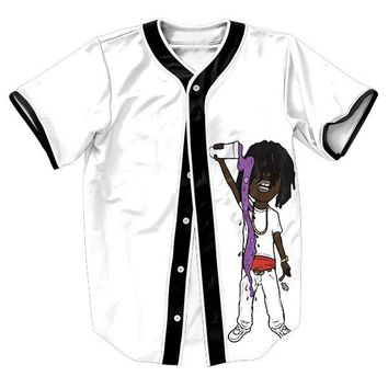 Lean To The Left Unisex 3d Baseball Jersey
