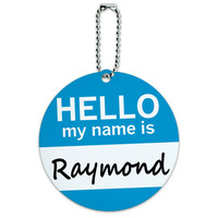 Raymond Hello My Name Is Round ID Card Luggage Tag