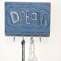 Necklace Organizer, Wall Jewelry Organizer, Necklace Holder, Mom Gift, Boho Decor, Inspirational Gift, Necklace Hanger, College Dorm Girl