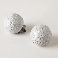 Sculpted Ramona  Finials by Anthropologie White One Size House & Home