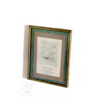 Winnie the pooh. Metal frame. Pooh bear. Winnie the pooh nursery. Pooh quote. Vintage pooh. Classic pooh. Standing picture. Wall art.