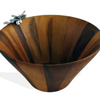 Dragonfly Large Salad Bowl