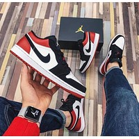 Air Jordan 1 Low casual all-match skateboard shoes