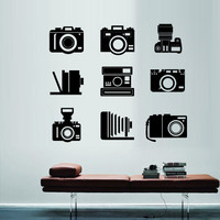 Wall Decal Vinyl Sticker Art Decor Design photo snapshot camera vintage Polaroid lens shooting Photo Bedroom Modern Fashion Mural (m1350)