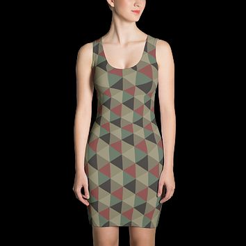 New Camo Fitted Dress
