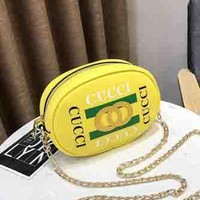 CUCCI Fashion Women Girl Waist Bag Full Color Yellow