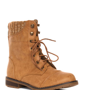 Carefree Sweater Boots - Tan