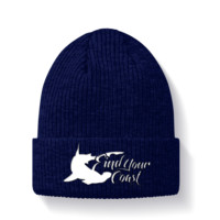 "12"" knit embroidered Hammerhead beanie"