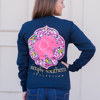 Simply Southern Long Sleeve Elephant Daisy Tee