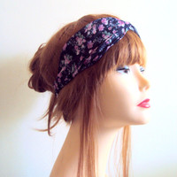Boho Headband Two Toned Twisted Head Band Chiffon Turban Head Wrap Yoga Bandana Elastic Back Hair Accessories Gift Ideas Fashion Accessories