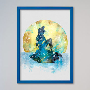 The Little Mermaid Ariel Poster Watercolor Princess Ariel print Disney Poster Kids art Wall art