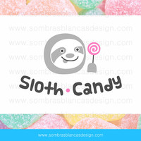 OOAK Premade Logo Design - Candy Sloth - Perfect for a sweets shop or a kids clothing brand