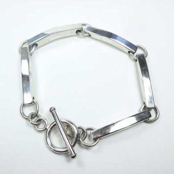 Details about  /Vintage Sterling Silver Bracelet Made In Mexico