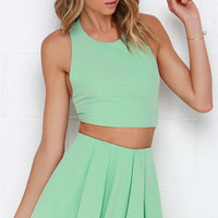 Do a Double Take Mint Green Two-Piece Set
