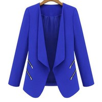 Blue Long Sleeve Blazer